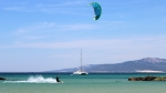 Kitesurfing in Los Lances Beach